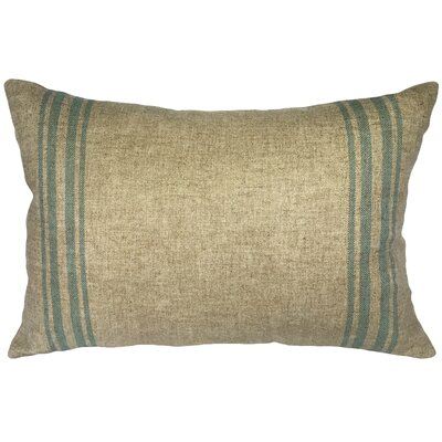 Lazaro Grainsack Striped Linen Lumbar Pillow