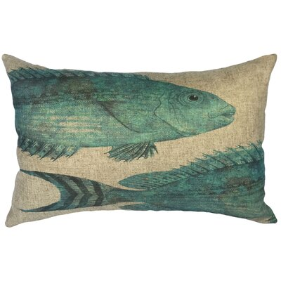 Betts Fish Linen Lumbar Pillow