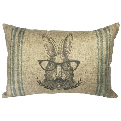 Lazo Rabbit Striped Linen Lumbar Pillow