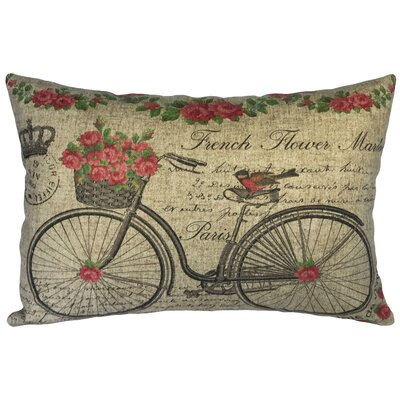 Callicoat French Flower Market Linen Lumbar Pillow