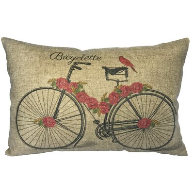 Callender Bicycle Linen Lumbar Pillow