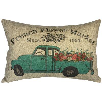 Caloundra Floral Truck Linen Lumbar Pillow
