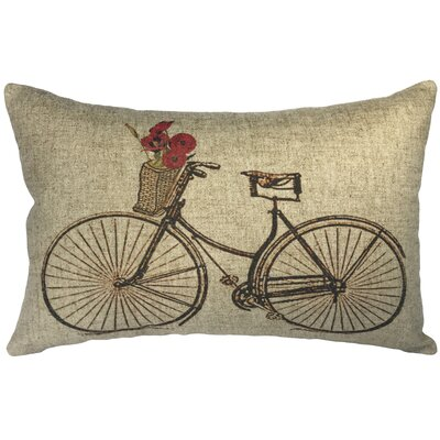 Callison Floral Bike Linen Lumbar Pillow