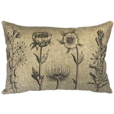 Leahy Floral Linen Lumbar Pillow