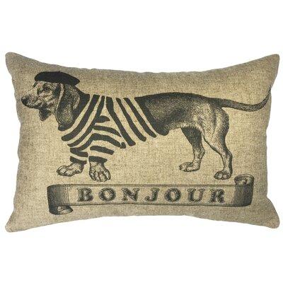 Scofield Bonjour Dog Linen Lumbar Pillow