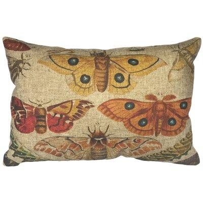 Camargo Bugs Linen Lumbar Pillow