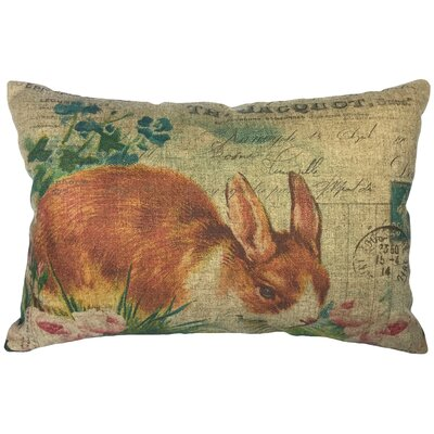 Cambell French Bunny Linen Lumbar Pillow