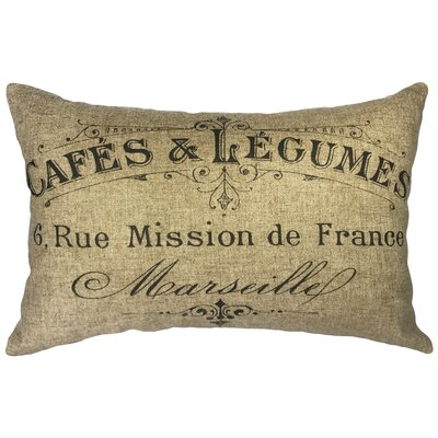 Leake Cafe Linen Lumbar Pillow
