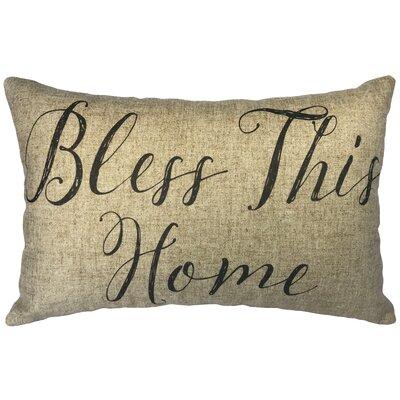 Leaman Bless This Home Linen Lumbar Pillow