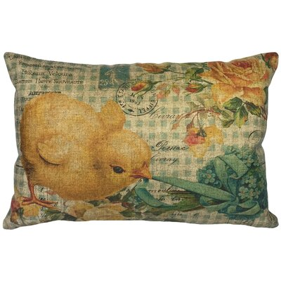 Campana Easter Chicken Linen Lumbar Pillow