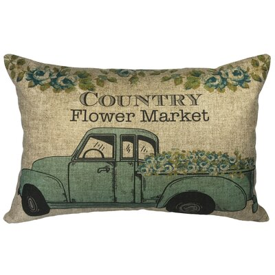 Campanella Country Flower Market Linen Lumbar Pillow