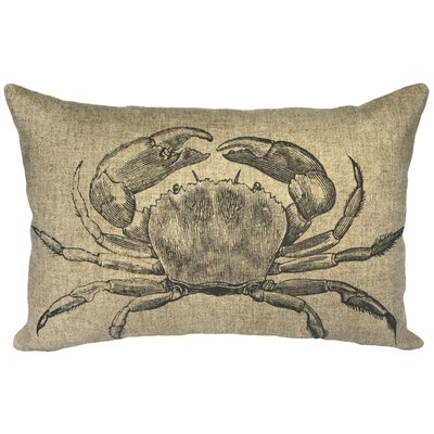Bevill Crab Linen Lumbar Pillow