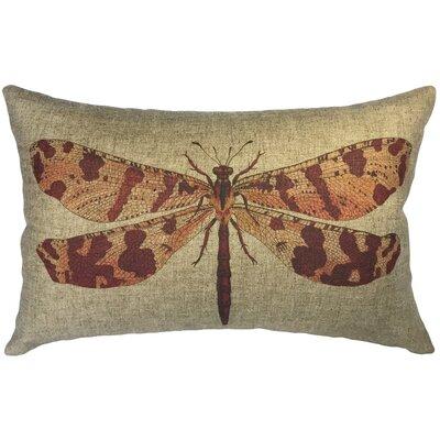Campas Dragonfly Linen Lumbar Pillow
