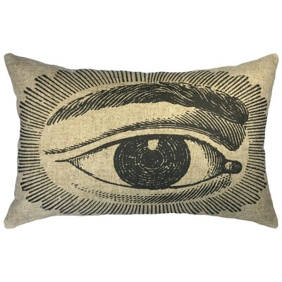 Scoles Eye Linen Lumbar Pillow
