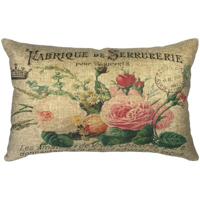Pauletta Flowers Linen Lumbar Pillow