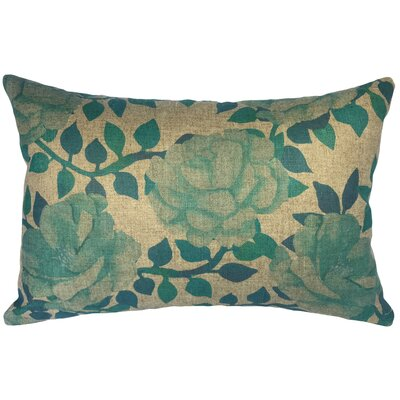 Campbelltown Flower Blooms Linen Lumbar Pillow