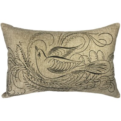 Camptown Flourish Linen Lumbar Pillow