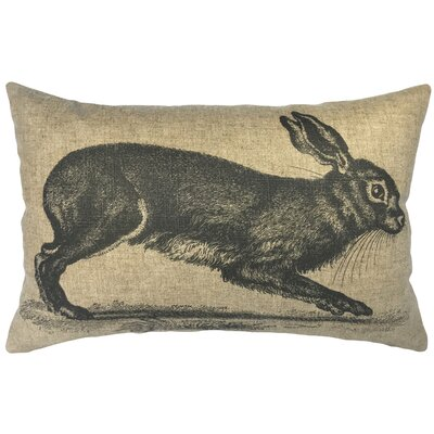 Leavy Rabbit Linen Lumbar Pillow