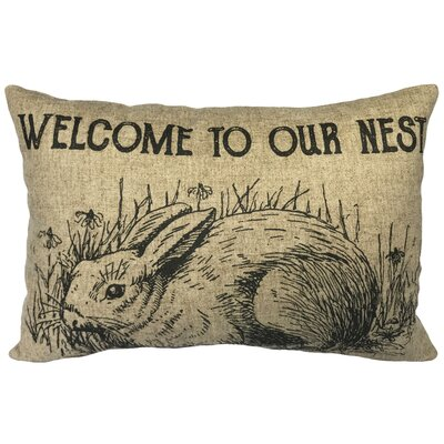 Camron Rabbit Nest Linen Lumbar Pillow