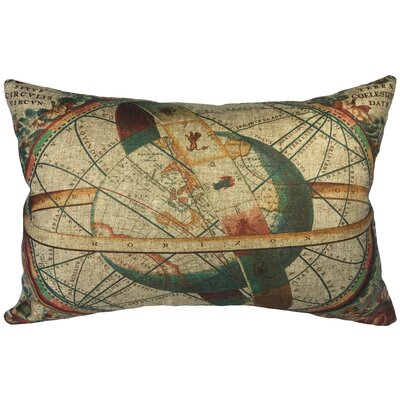 Crain World Map Linen Lumbar Pillow