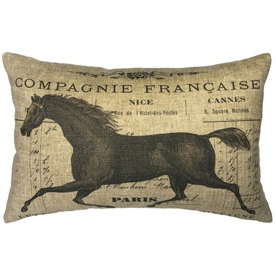 Lebo French Horse Linen Lumbar Pillow