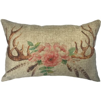Brust Deer Horns Linen Lumbar Pillow