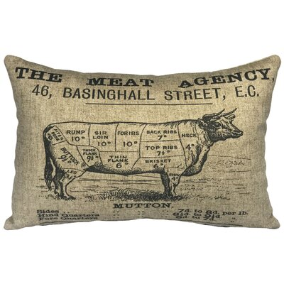 Lebrun Meat Agency Linen Lumbar Pillow