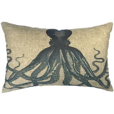 Eliza Octopus Linen Lumbar Pillow