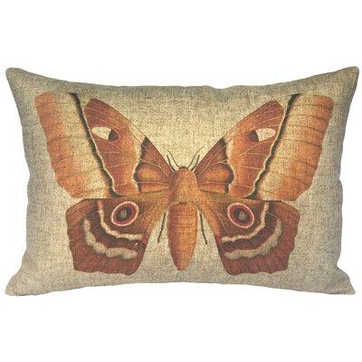 Camryn Moth Linen Lumbar Pillow