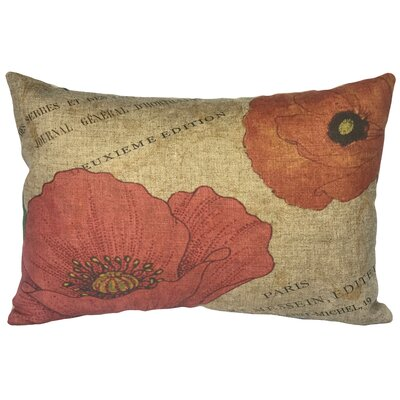 Cana French Flowers Linen Lumbar Pillow