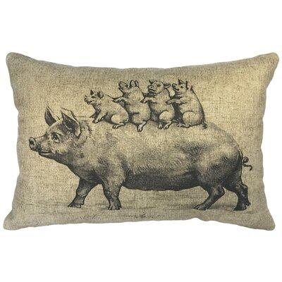 Canady Pig Linen Lumbar Pillow
