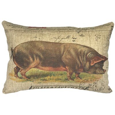 Canale French Pig Linen Lumbar Pillow