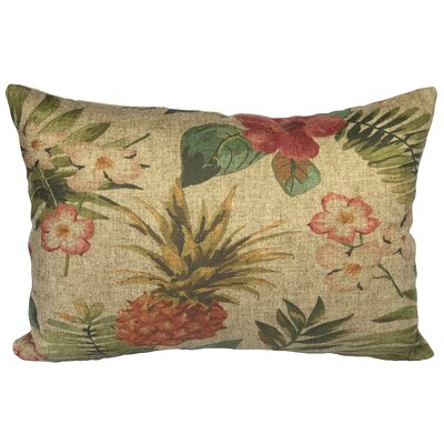 Creekmont Tropical Pineapple Linen Lumbar Pillow