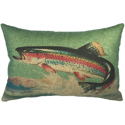 Bigler Trout Linen Lumbar Pillow