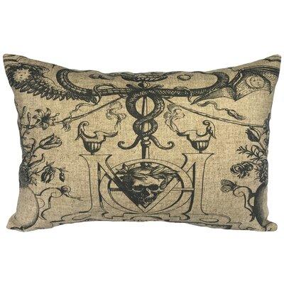 Cramer Skull Linen Lumbar Pillow
