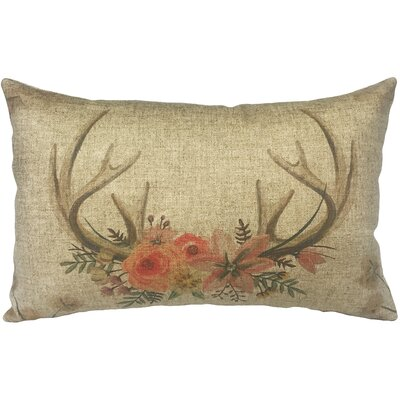 Lechuga Horns Linen Lumbar Pillow