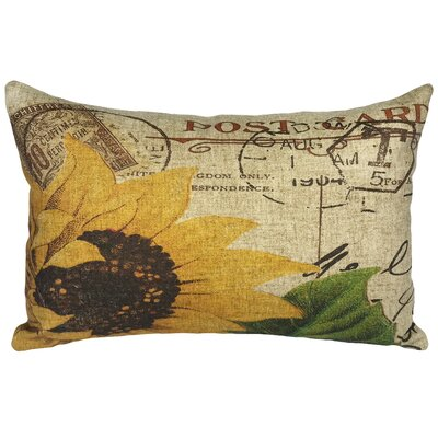Canchola Sunflower Linen Lumbar Pillow