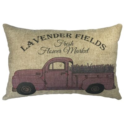 Candelario Lavender Fields Linen Lumbar Pillow