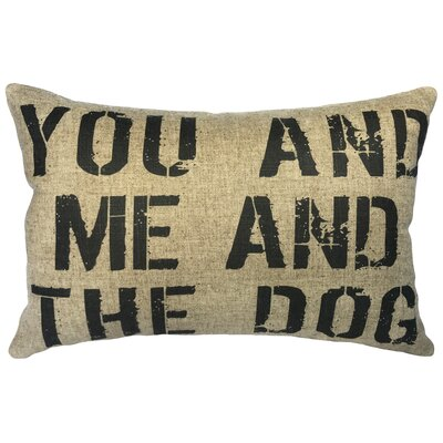 Canipe You and Me and The Dog Linen Lumbar Pillow
