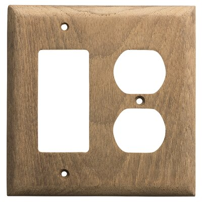 Teak Rocker Light Switch Cover