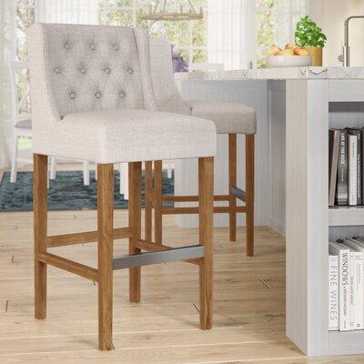 Sixtine 30 Bar Stool Upholstery: French Beige