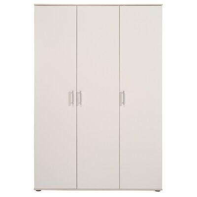 Mauro 3 Door Wardrobe Armories Color: Acacia/White