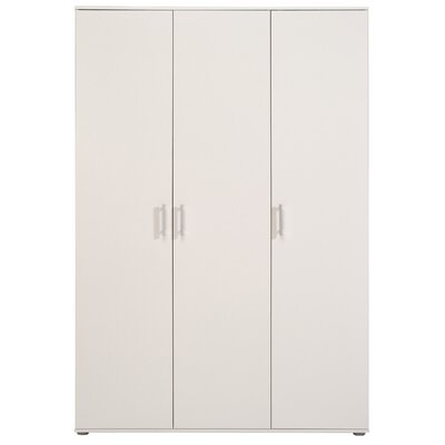 Mauro 3 Door Wardrobe Armories Color: White