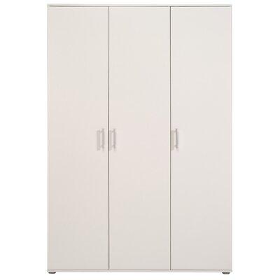Mauro 3 Door Wardrobe Armories Color: White