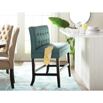 Dekalb 28.5 Bar Stool Upholstery: Dark Teal