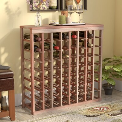 Karnes Redwood Table Top 64 Bottle Floor Wine Rack Finish: Natural