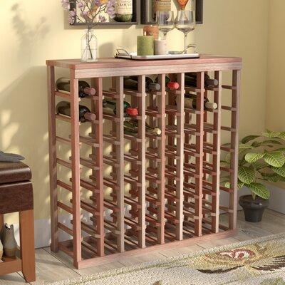Karnes Redwood Table Top 64 Bottle Floor Wine Rack Finish: Natural