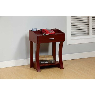 Etzel End Table Color: Mahogany