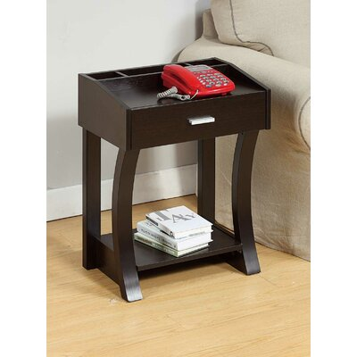 Etzel End Table Color: Red Cocoa