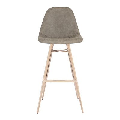 Fromm Bar Stool Color: Taupe